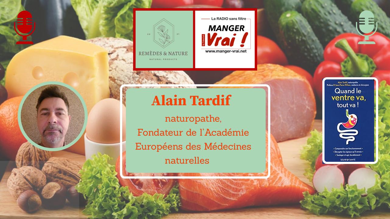 Alain Tardif dans l'émission de radio manger vrai